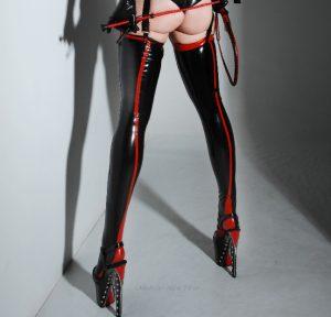 Mistress Alex in Latex stockings